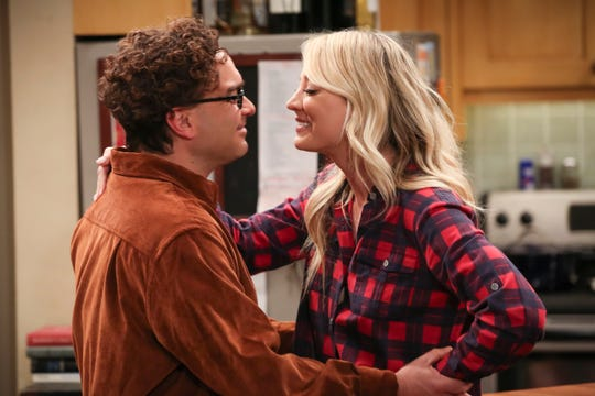 """Leonard (Johnny Galecki) and Penny (Kaley Cuoco) have a secret for """"Big Bang Theory"""" viewers and for their friends: She's going to have a baby."""