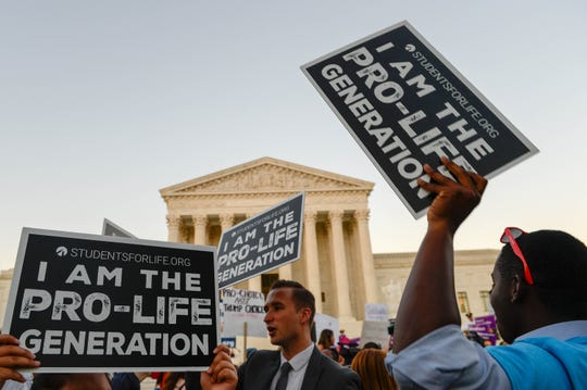 In front of the Supreme Court in Washington, D.C., on July 9, 2018.