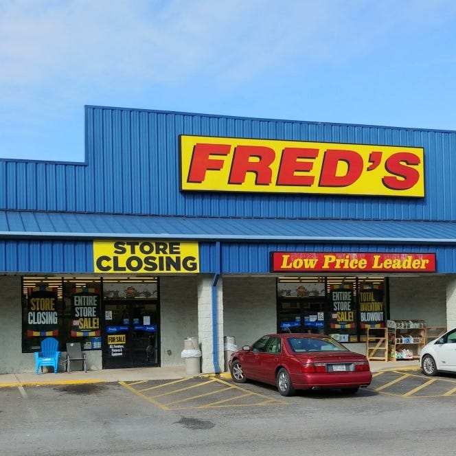 Milton's Fred's among 104 stores closing, 'going out of business' sales now underway
