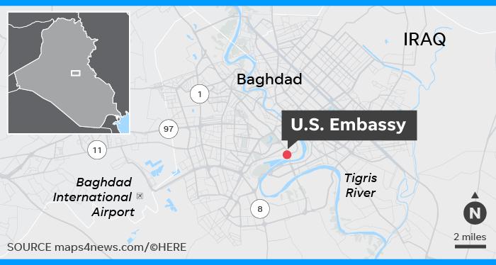 Iran Crisis Us Embassy Staff Told To Leave Iraq Amid Iran Tensions - Us-embassy-london-map