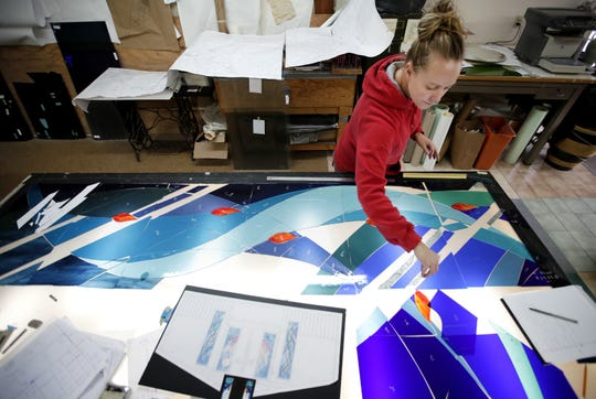 Kristy Meyer, a craftsman at Coventry Glassworks & Gallery, is buying the stained glass side of the business and will rename it Studio K Stained Glass.
