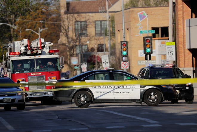 An exchange of gunfire Wednesday at the Valley Transit Center in downtown Appleton left two people dead and two injured.