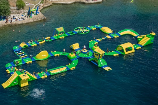 Lacey will open its first inflatable water park at Lake Barnegat in late June.