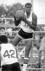 Kelvin Troy playing in the Jersey Shore Basketball League in 1976