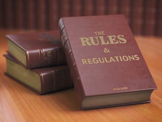 Rules an regulations books