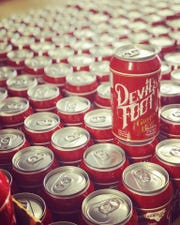 A can of Devil's Foot Ginger Beer - Fuego, brewed and distributed by Asheville-based Devil's Foot Beverage Co.