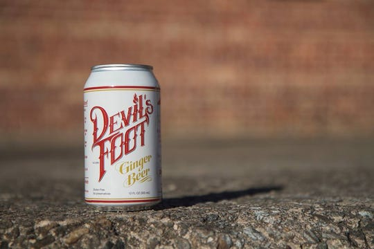 A can of Devil's Foot Ginger Beer brewed and distributed by Asheville-based Devil's Foot Beverage Co.