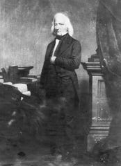Daniel S. Dickinson, the first village president, in 1834.