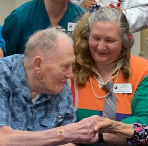 103rd birthday: Phyllis Carlson and Ed Reinhardt