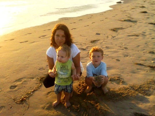 Samantha Orr with her sons.