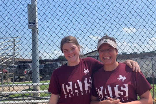 Calallen's Aly Wiggins (left) and Lizette Del Angel.
