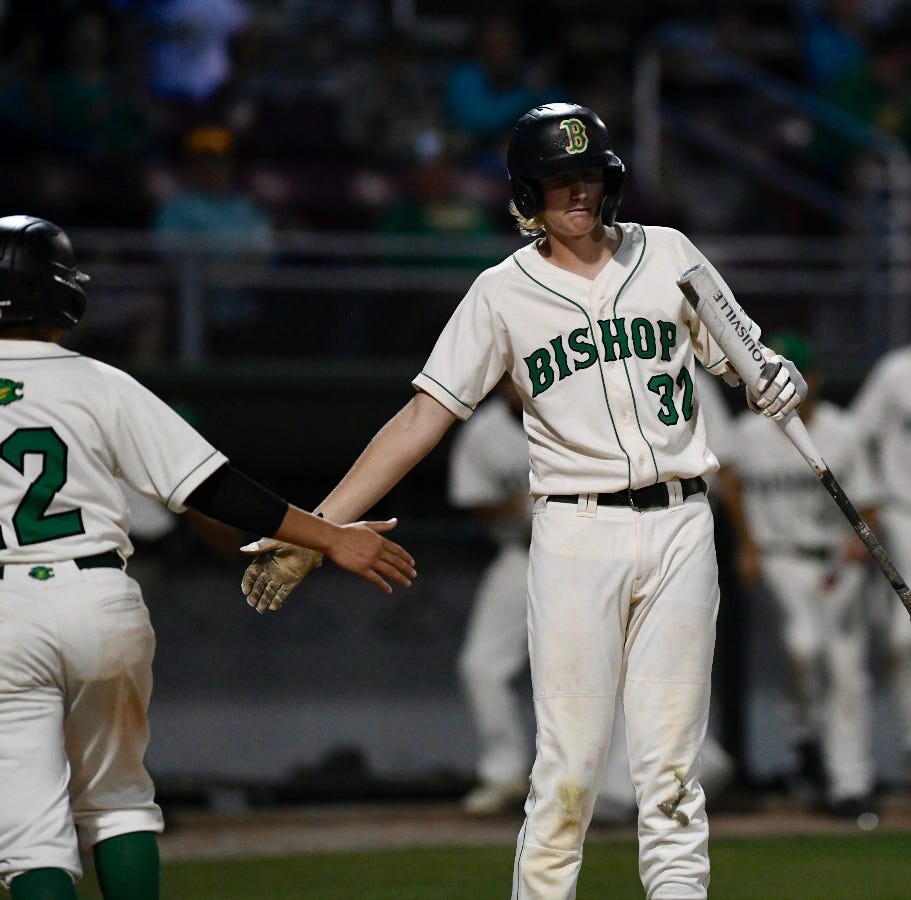 High School Baseball: Bishop Badgers open regional quarterfinal series with run-rule win