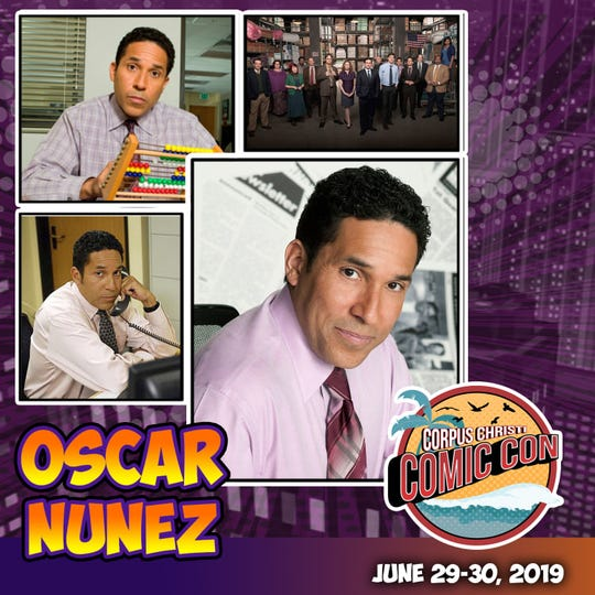 "Actor Oscar Nunez, best known for his role as Oscar Martinez from NBC's ""The Office,"" will make a stop in Corpus Christi this summer for Corpus Christi Comic Con 2019."