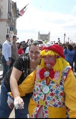 Lois Herman clowns around with her granddaughter Stephanie after Ocean City's Doo Dah Parade.
