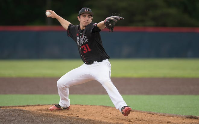 Haddonfield's Chris Brown pitches during the Diamond Classic final against Shawnee last week.