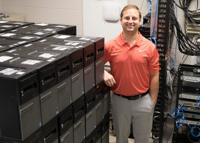 Zane Trace director of technology Cory Juillerat traveled to Tampa, Florida, for a donation of almost $600,000 worth of computer and tech equipment from the U.S. Air Force. The computers will not only be used for students in the esports program but will also be used to update other aging computers in the school.