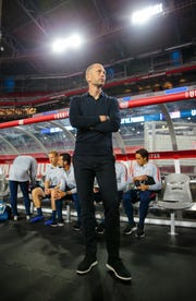USA head coach Gregg Berhalter against Panama during an international friendly soccer match at State Farm Stadium.