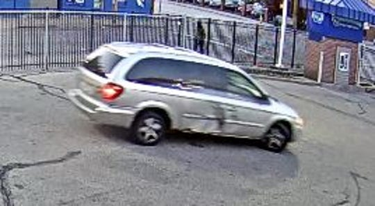 A surveillance image of a vehicle police believe is connected to a felonious assault.