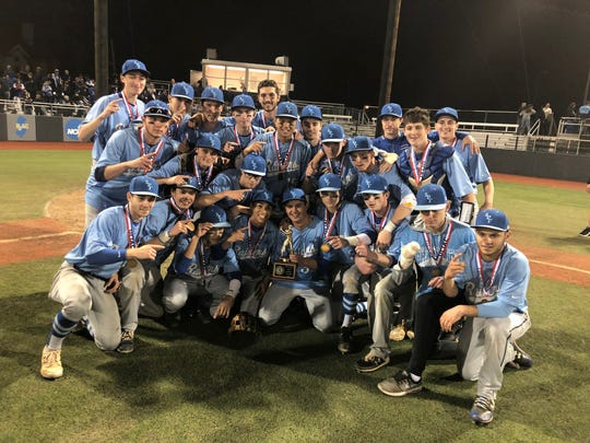 The Scotch Plains-Fanwood baseball team won the Union County Tournament title on Wednesday, May 15, 2019 at Kean University.