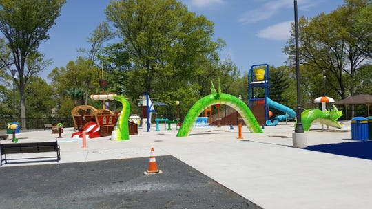 The new spray park at Wheeler Park in Linden is scheduled to open May 25