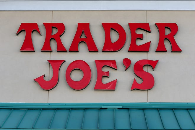 The Trader Joe's sign is seen during the grand opening of a Trader Joe's on October 18, 2013 in Pinecrest, Florida. (Photo by Joe Raedle/Getty Images)