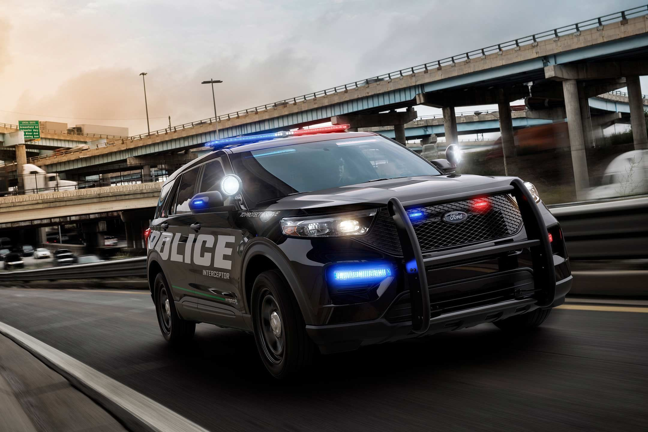 PURSUIT VEHICLE POLICE INTERCEPTOR  License Plate Frame