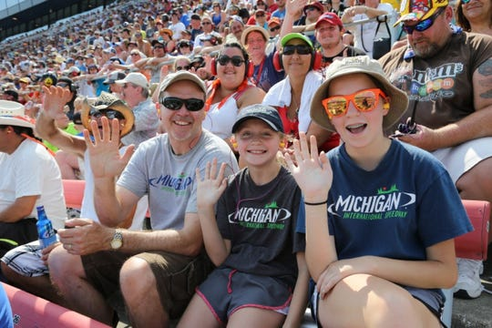 Michigan International Speedway caters to people of all ages. 'We love seeing children in the stands with their dads, moms and other family members,' said MIS President Rick Brenner.