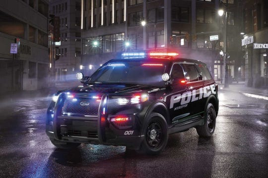 The Ford Police Interceptor SUV.