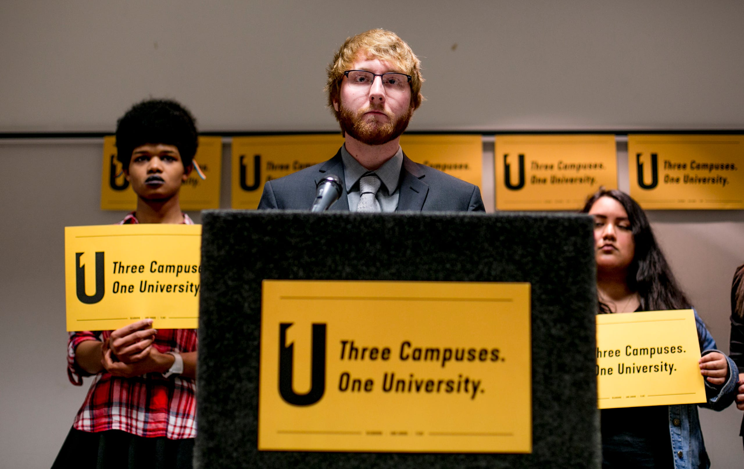 University of Michigan-Flint undergrad Austin Ogle said medical and legal services that are available to UM-Ann arbor students are lacking at UM-Flint and UM-Dearborn.
