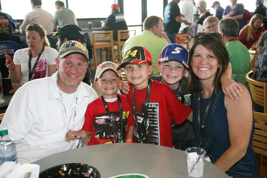 There's plenty of family entertainment beyond the race itself at Michigan International Speedway. Other attractions include lumberjack shows, aerial acts, a human cannonball and face painting.