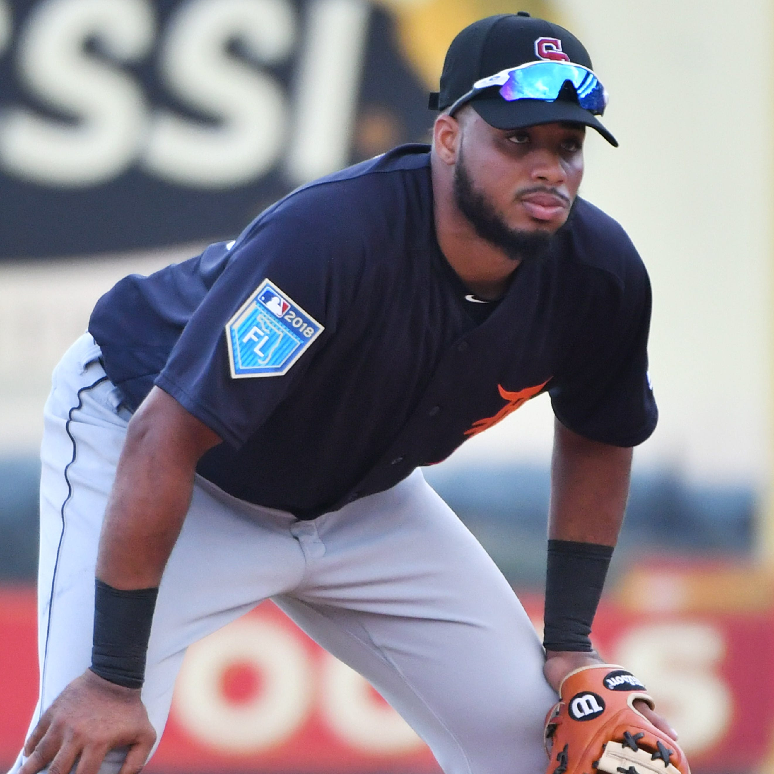 Tigers turn third base over to prospect Dawel Lugo, who hits three-run homer