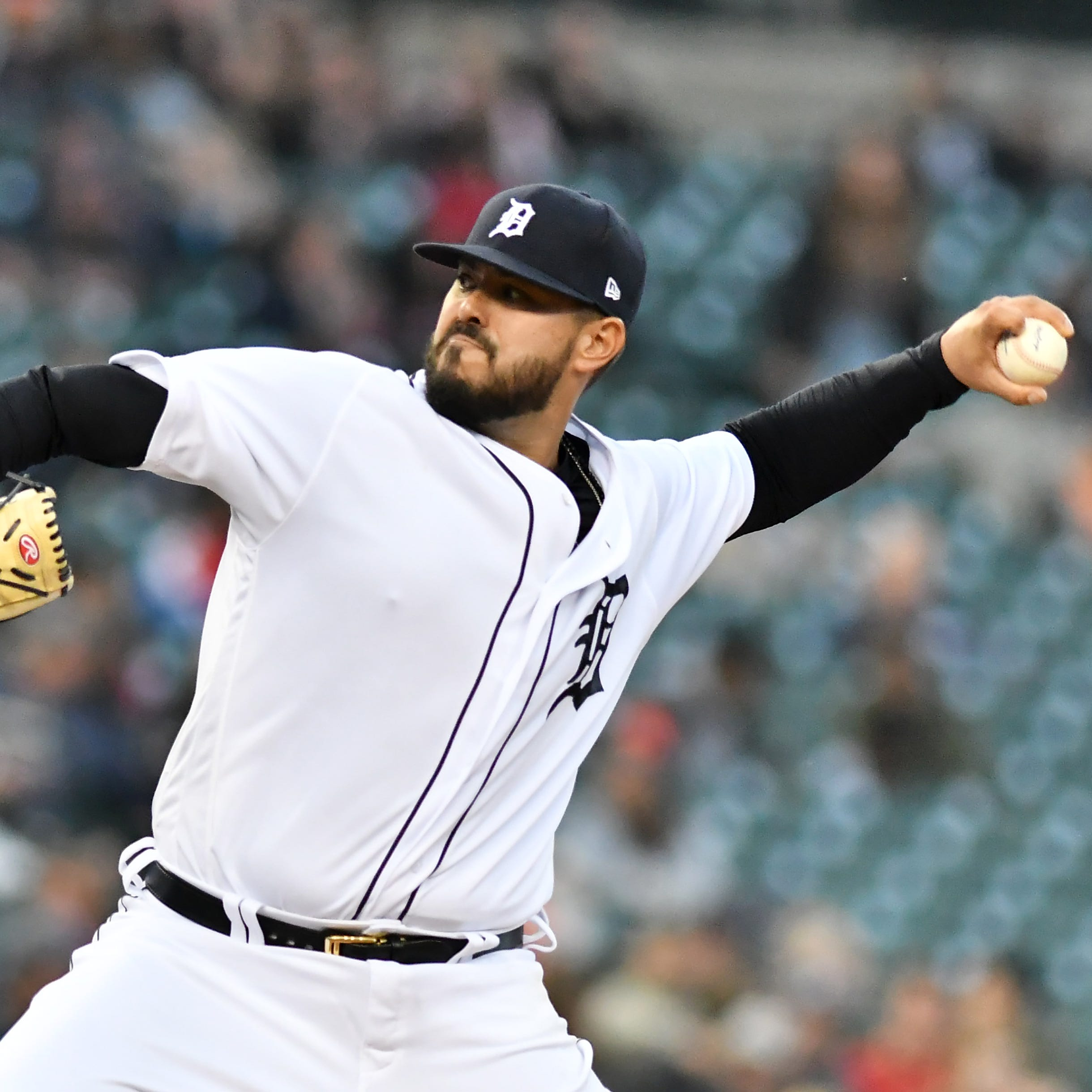 Moving back to the mound saved career for Tigers reliever Nick Ramirez