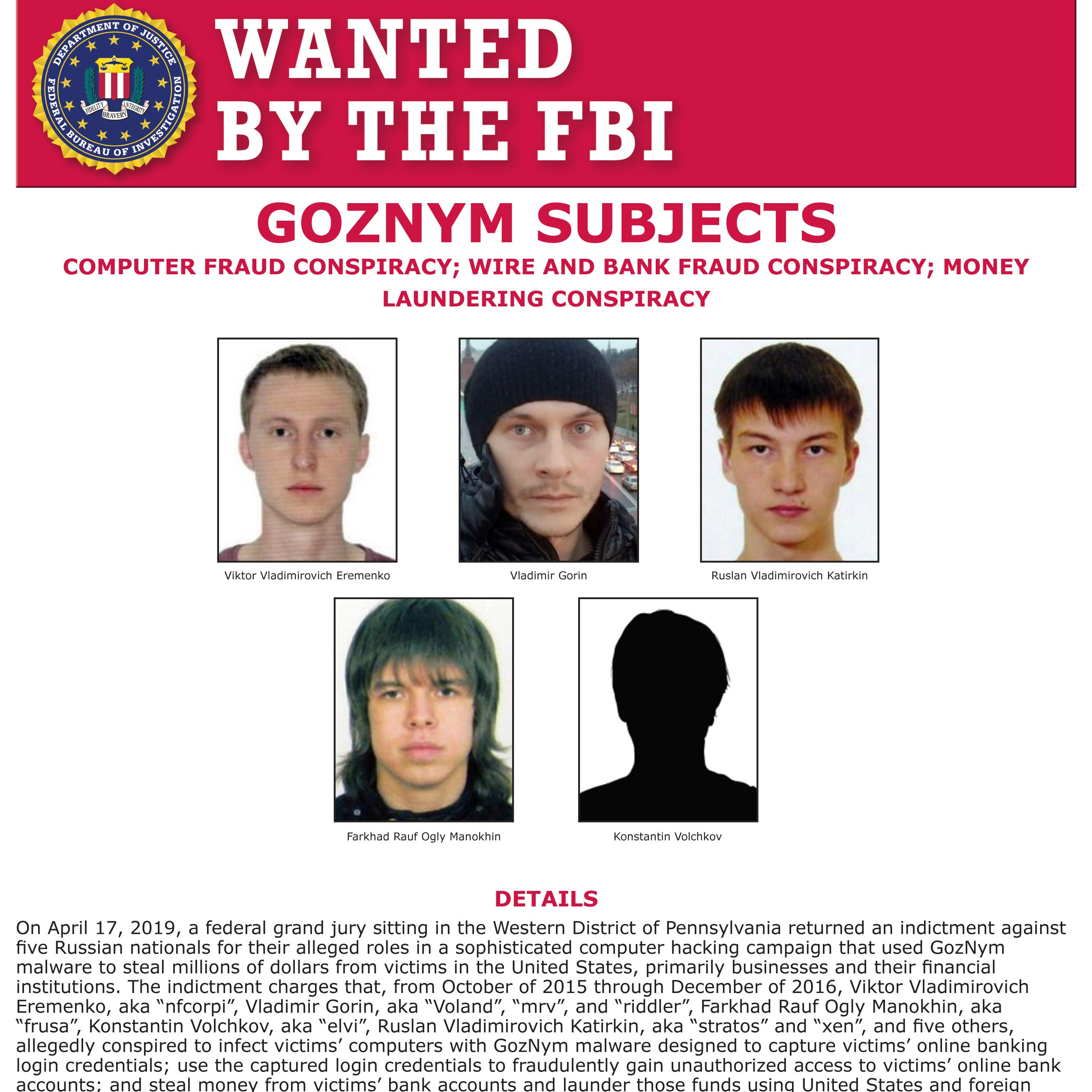 US, European officials bring charges in global malware case