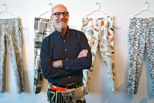 Pants designer Jim Luckey