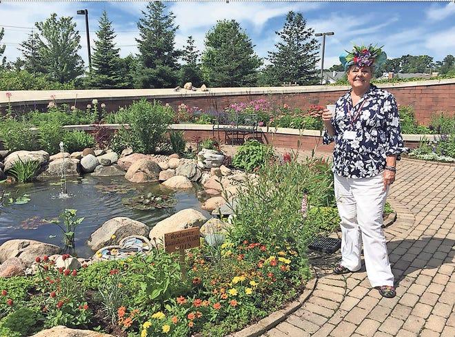 Nancy Szerlage at the OPC  garden