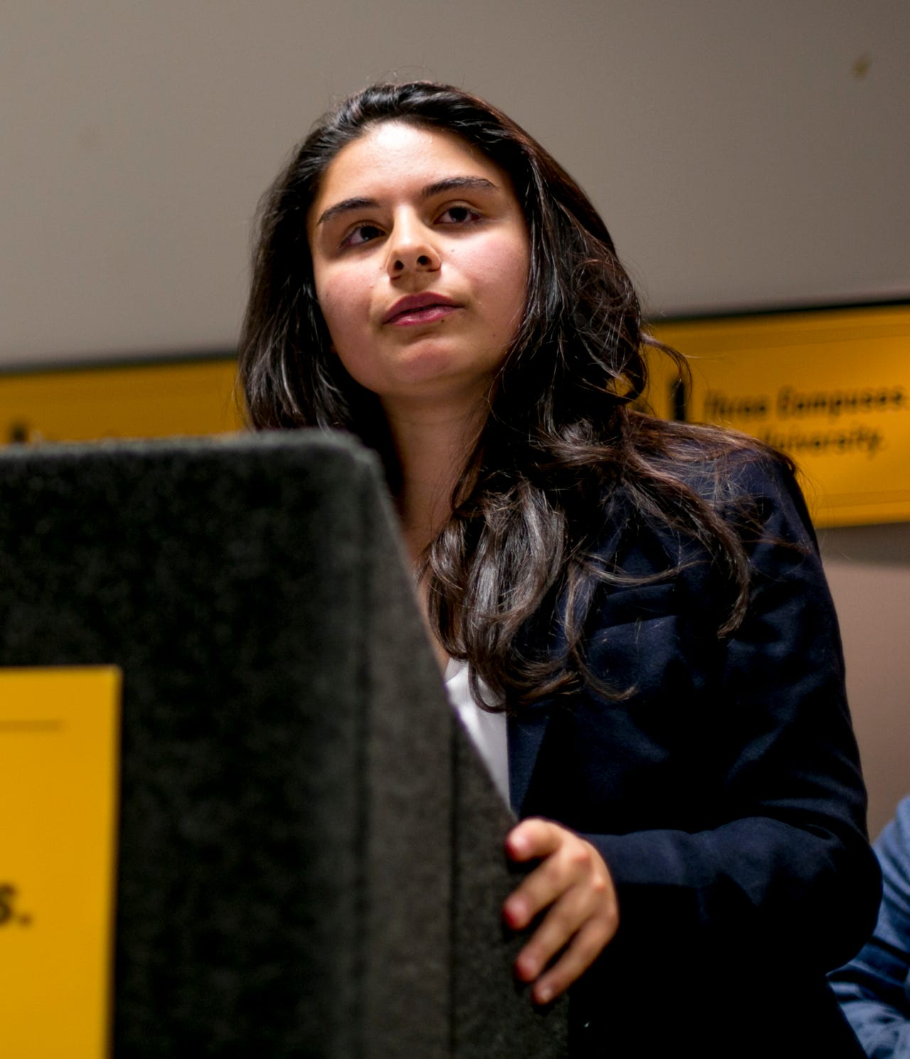 """UM-Flint and Dearborn students pay about 80 percent of Ann Arbor students' tuition, but receive 25 percent of per-student funding,"" said Amytess Girgis, a UM-Ann Arbor student, during the public comment portion of the meeting."