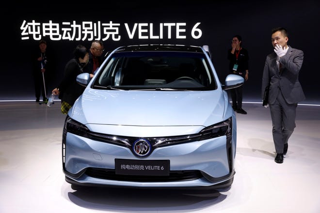 General Motors Co. introduced its first all-electric Buick, the Velite 6, during the Auto Shanghai 2019 show last month.