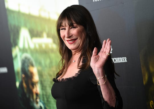 """Actress Anjelica Huston attends the world premiere of """"John Wick: Chapter 3 - Parabellum"""" at One Hanson on Thursday, May 9, 2019, in New York."""