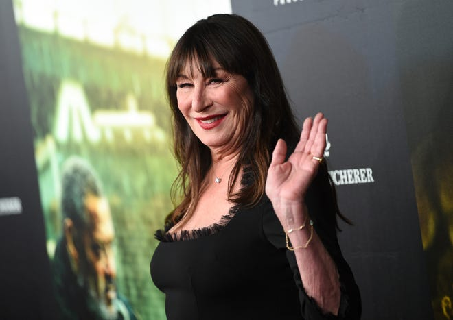 "Actress Anjelica Huston attends the world premiere of ""John Wick: Chapter 3 - Parabellum"" at One Hanson on Thursday, May 9, 2019, in New York."