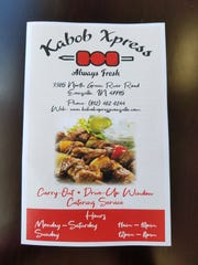 Kabob Xpress is a new Mediterranean restaurant on N. Green River Rd.