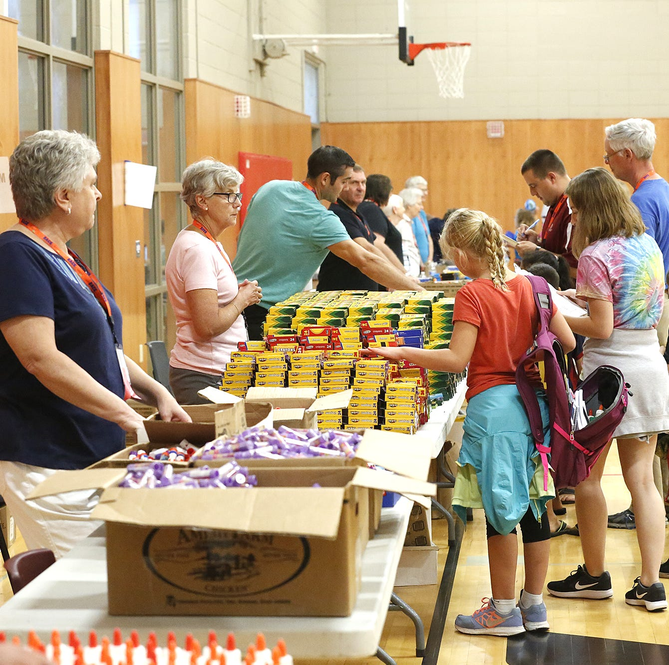 March floods damaged about 1,000 school supplies. FDL's Back to School program needs help