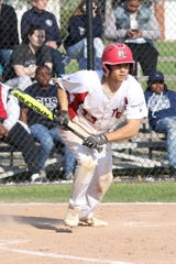 Port Clinton's Jaxon Martinez takes off for first after laying down a perfect run-scoring bunt.