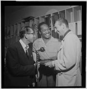 Josh White and Symphony Sid, WHOM, New York, N.Y., between 1946 and 1948.