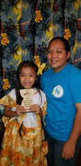 Derrinalyn  Sablan participated in the Maga'haga and Magai'lahi competition sponsored by Parent Teacher Orgination during Mes CHamoru.