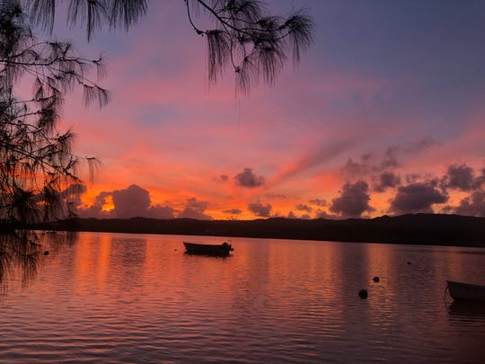 Sunset photo taken by Photo of the Week winner Jayne Thompson of Agat. This was taken at Marianas Yacht Club in Piti.