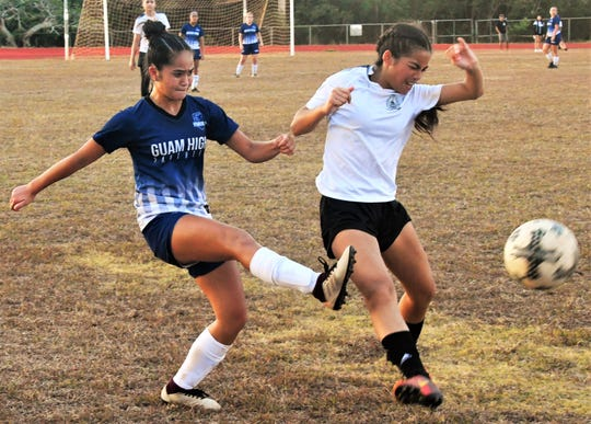 The Academy of Our Lady of Guam rallied to beat the Guam High in an IIAAG High School Girls Soccer semifinal May 16 at GW field.
