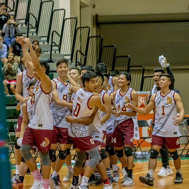 Friars trounce Eagles, defend volleyball title