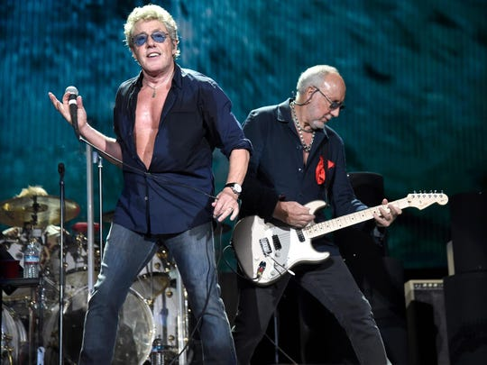 The Who (Roger Daltrey, left, and Pete Townshend) will perform May 18 at Ruoff Home Mortgage Music Center.