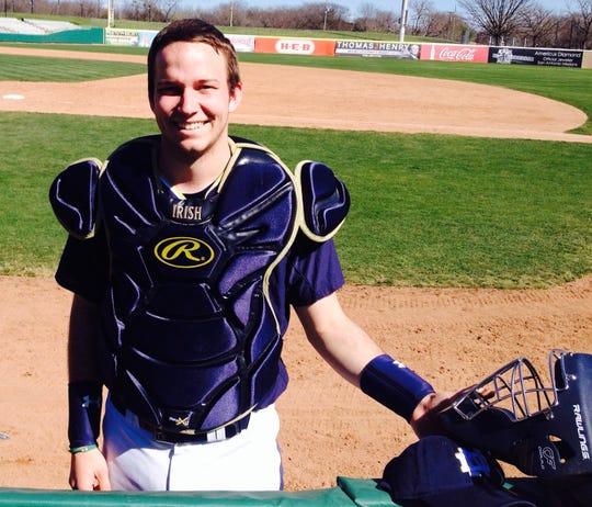 Notre Dame senior Luke Vandertie has been juggling a double major along with responsibilities as bullpen catcher and head of analytics for the baseball program