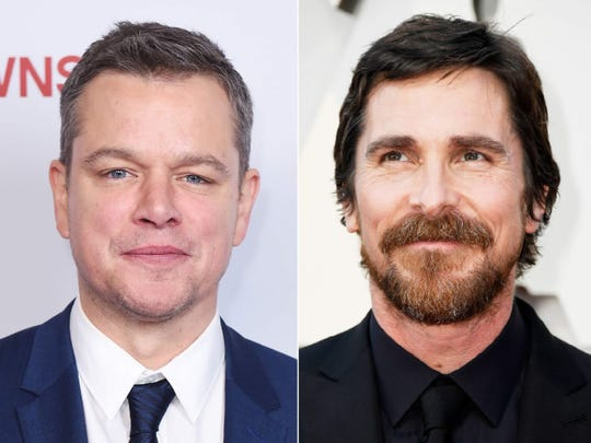 Matt Damon, left, and Christian Bale will serve as honorary starters for the 103rd running of the Indianapolis 500.
